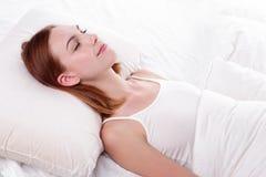 Sueño bueno y de la salud imagen de archivo libre de regalías