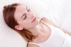 Sueño bueno y de la salud Fotografía de archivo libre de regalías