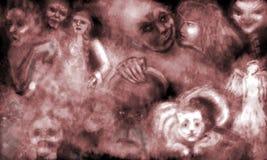 Sueño con ghosts3 stock de ilustración