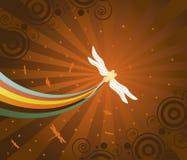 Sueño con libélulas ilustración del vector