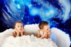 Sueño de ángeles Foto de archivo libre de regalías
