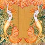 Sueño de estrellas de mar de la sirena Imagen de archivo