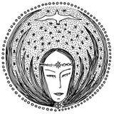 Sueño de la mujer Imagen de archivo libre de regalías