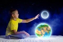 Sueño de la noche stock de ilustración