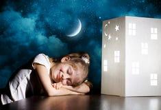 Sueño de la noche imagenes de archivo