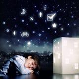 Sueño de la noche Imagen de archivo libre de regalías