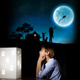 Sueño de la noche Fotos de archivo