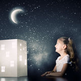 Sueño de la noche Fotografía de archivo libre de regalías
