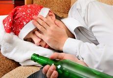 Sueño del adolescente con una cerveza Fotos de archivo libres de regalías