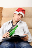 Sueño del adolescente con una cerveza Foto de archivo libre de regalías