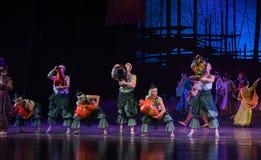 """Sueño del """"The del drama de la danza-danza de Lacquerware del  de seda marítimo de Road†Foto de archivo"""