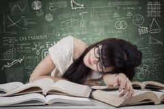 Sueño del estudiante en la clase Fotos de archivo libres de regalías