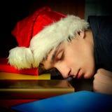 Sueño del estudiante en libros Fotos de archivo
