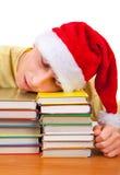 Sueño del estudiante en los libros Fotografía de archivo libre de regalías