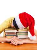 Sueño del estudiante en los libros Fotos de archivo
