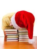 Sueño del estudiante en los libros Foto de archivo libre de regalías