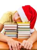 Sueño del estudiante en los libros Fotos de archivo libres de regalías