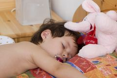 Sueño del niño Fotos de archivo libres de regalías