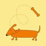 Sueño del perro basset Foto de archivo libre de regalías