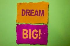 Sueño del texto de la escritura grande Idea del desafío de la estrategia de Vision del sueño del objetivo del plan de la motivaci Fotografía de archivo libre de regalías