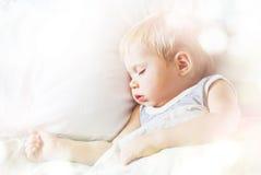 Sueño dulce de Little Boy Foto de archivo libre de regalías