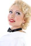 Sueño joven de la mujer del blondie Fotografía de archivo