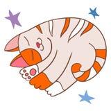 Sueño rayado de los gatos Imagen de archivo