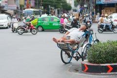 Sueños ciclos vietnamitas del conductor Fotografía de archivo