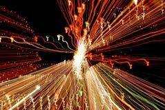 Sueños coloreados del caballo de mar de las luces Foto de archivo