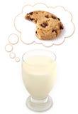 Sueños de la leche de la galleta Imagen de archivo