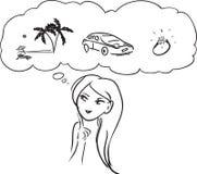 Sueños de la mujer libre illustration