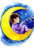 Sueños de la noche ilustración del vector