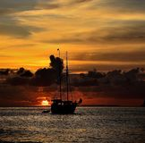 Sueños 1 de la puesta del sol Imagen de archivo libre de regalías