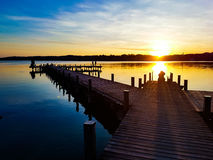 Sueños de la puesta del sol - días de fiesta Foto de archivo