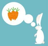 Sueños del conejo de la zanahoria stock de ilustración