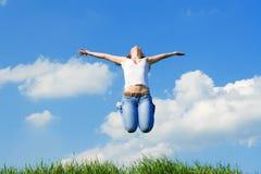 Sueños felices de la mujer joven Foto de archivo libre de regalías
