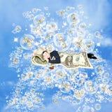 Sueños financieros sobre el dinero Imágenes de archivo libres de regalías