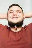 Sueños gordos del hombre Fotos de archivo