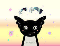 The Sue Cat Bat - illustration Art ( unique Art for Kids ) Stock Images