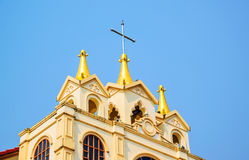 Suebnathitham church, located in Chiang Mai, Thailand. Royalty Free Stock Photo