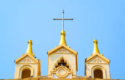 Suebnathitham church, located in Chiang Mai, Thailand. Stock Image