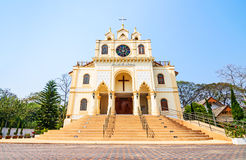 Suebnathitham church, located in Chiang Mai, Thailand. Stock Photos