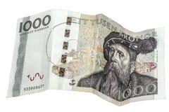Sueco 1000 coronas Imagen de archivo libre de regalías