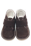 Suede baby shoes Royalty Free Stock Photo