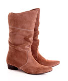 Suede boots Stock Photos