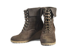 Suede boots Royalty Free Stock Photo