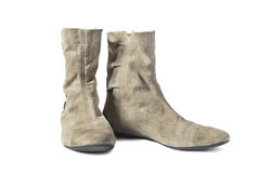 Suede boots Royalty Free Stock Photography