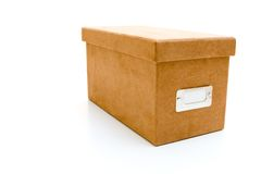 Suede box Stock Image