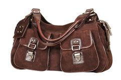 Suede female handbag Stock Image