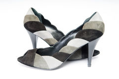 Suede female shoes Royalty Free Stock Photos